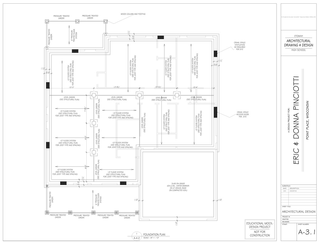 Foundation plan architecture and engineering design for House foundation plan